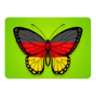 German Butterfly Flag on Green Card