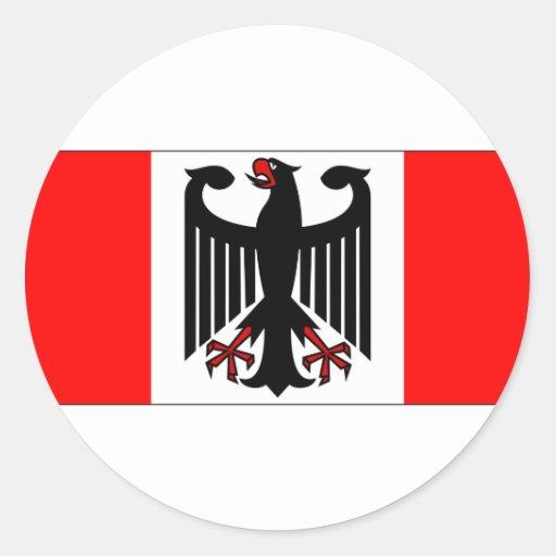 German Canadian Classic Round Sticker