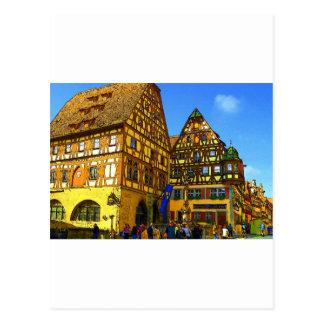 German Cartoon House Rhineland region of Germany Postcard