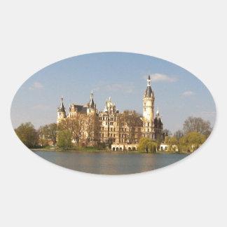 German Castle Schwerin - Schloss - Märchenschloss Oval Sticker