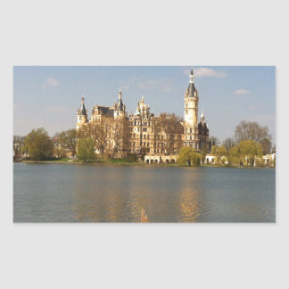 German Castle Schwerin - Schloss - Märchenschloss Rectangular Sticker