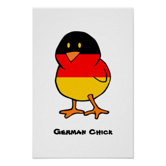 German Chick Poster