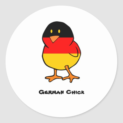 German Chick Sticker
