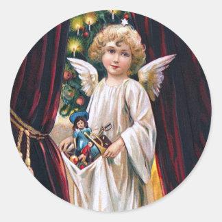 German Christ Child Classic Round Sticker