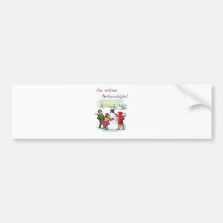 German Christmas Card Car Bumper Sticker