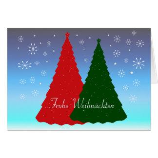 German Christmas Card Frohe Weihnachten