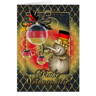 German Christmas Card - Frohe Weihnachten
