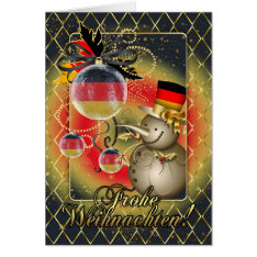 German Christmas Card - Frohe Weihnachten at Zazzle