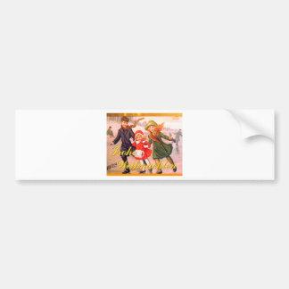 German Christmas Card Frohe Weihnachten Car Bumper Sticker