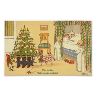 German Christmas Card Poster