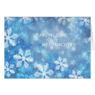German Christmas card with snowflakes