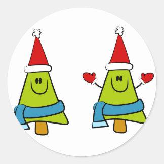 German Christmas Greetings Round Stickers