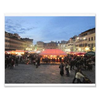 German Christmas Market in Piazza Santa Croce Photograph