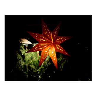 German Christmas Market Star Lantern Postcard