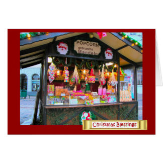 German Christmas, Popcorn and candy Greeting Card