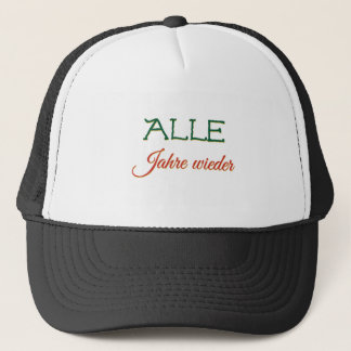 German Christmas Song Lied Jahre Singing Weihnacht Trucker Hat