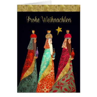 German Christmas, Three Magi Card