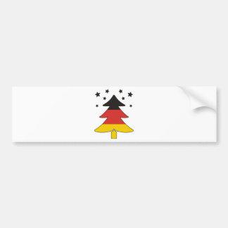 German Christmas Tree Car Bumper Sticker