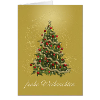 German Christmas Tree Card