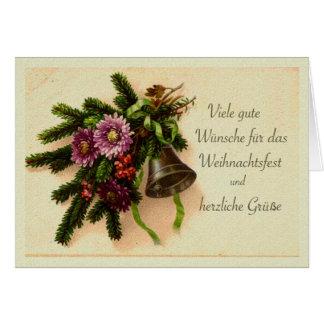 German Christmas, Weihnachtsfest Vintage Card