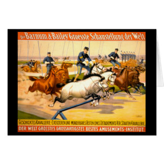 German Circus Advertisement Vintage 1900 Card