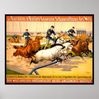 German Circus Advertisement Vintage 1900 Print