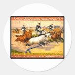 German Circus Advertisement Vintage 1900 Classic Round Sticker