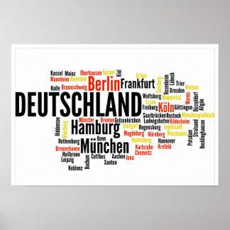 German Cities - Deutsche Städte Poster