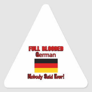 German citizen design triangle sticker