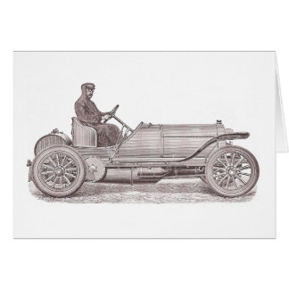 German Classic Car Mercedes Camille Jenatzy Greeting Card