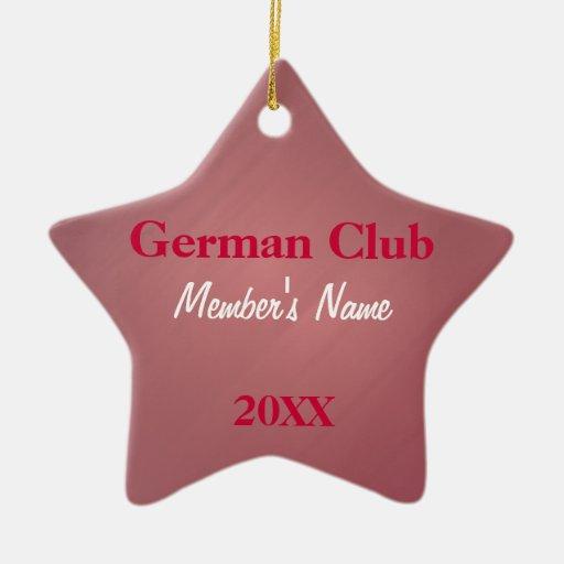 German Club, Foreign Language Club Ornaments