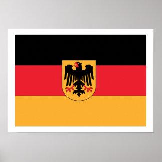 German Coat of Arms Flag Print