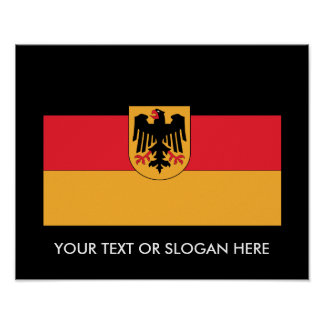 German Coat of Arms Flag Poster