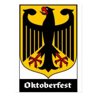 GERMAN COAT OF ARMS FOR OKTOBERFEST POSTCARD