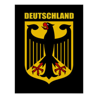 German Coat of Arms Poster