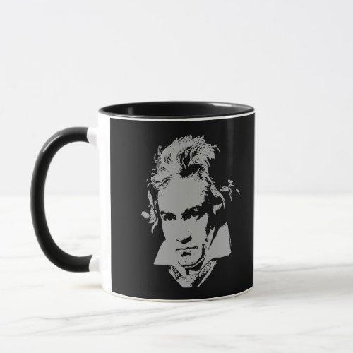 German Composer Pianist Beethoven Mug