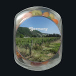 "German Countryside Glass Candy Jar<br><div class=""desc"">Vineyard in the countryside of Germany.</div>"