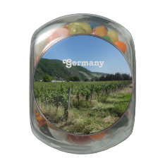 German Countryside Glass Candy Jar at Zazzle