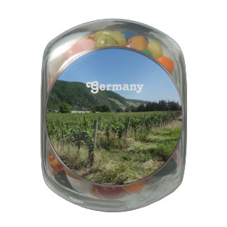 German Countryside Glass Candy Jar