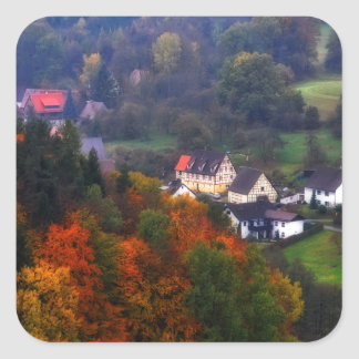 German Countryside in the fall Square Sticker