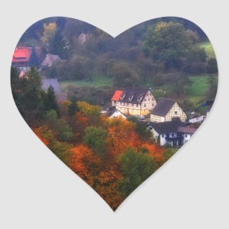 German Countryside in the fall Heart Sticker