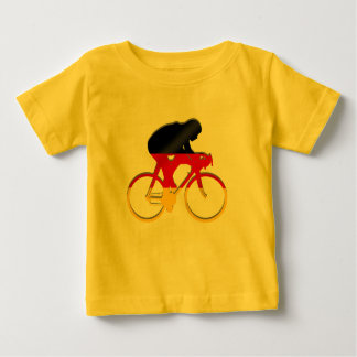 German cycling flag of germany cyclists gear baby T-Shirt