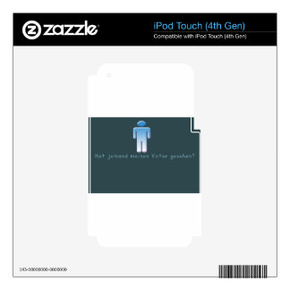 German -Daddy Decals For iPod Touch 4G