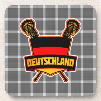 German Deutsch Lacrosse Cork Coasters