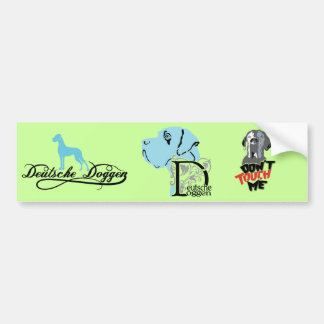 German: Dogge Bumper Sticker