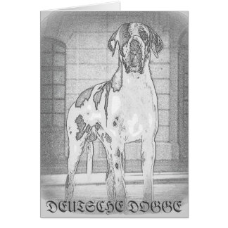 German Dogge, gefleckt, harlequin, great dane, Dog Card