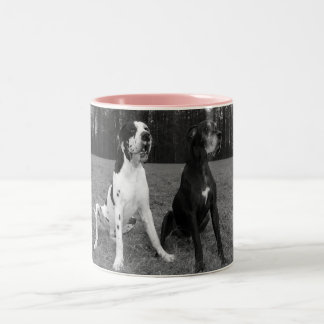 German Dogge, great dane, Hunde, Dogue Allemand Two-Tone Coffee Mug