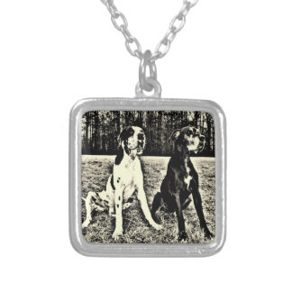 German Dogge, great dane, Hunde, Dogue Allemand Square Pendant Necklace