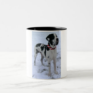 German Dogge, great dane, Hunde, Weihnachten Two-Tone Coffee Mug