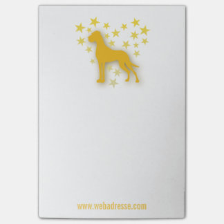 German Dogge Starheart Post-it® Notes